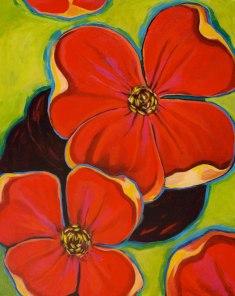 Desert Flora, acrylic