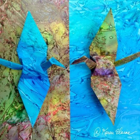 Painted Paper Cranes