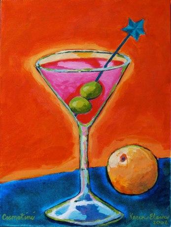 No More Martinis, acrylic