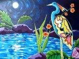 Peace. Acrylic on canvas by Karen Elaine.