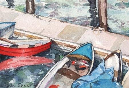 SB Harbor, Watercolor