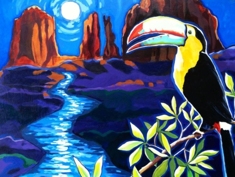 Sedona Moon. Acrylic