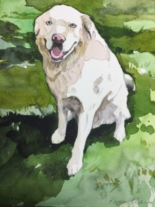 Best Friend Portrait, Watercolor